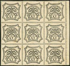 lotto 270 - Stato Pontificio - b.8 bianco c.mano n.23, blocco di 9