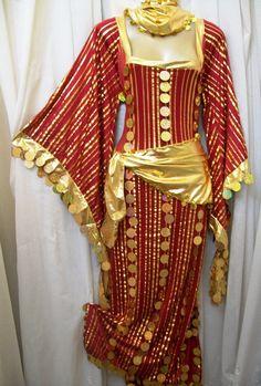 Egypt Galabeya 2 Beaded Scarves Abaya Baladi Belly Dance Dress 2 Gifts | eBay
