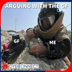 It's clear, arguing with your girlfriend is not an easy affair  Is it the same for you?  #MAD #Gf #Love #Argue