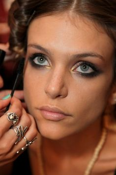 smoked out eyes: mara hoffman backstage