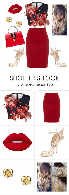 Do you believe in fairytales??? by nhatiusehun on Polyvore featuring Clover Canyon, Paule Ka, Sophia Webster, Gucci and Lime Crime