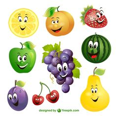 Cartoon fruit expression vector free vector Source by lazarlidia Free Games For Kids, Art For Kids, Crafts For Kids, Fun Games, Fruits And Vegetables Pictures, Fruit Clipart, Fruit Vector, Thai Pattern, Funny Fruit