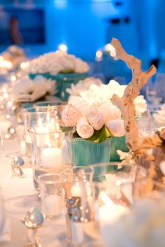 Reception table at Shutters on the Beach.