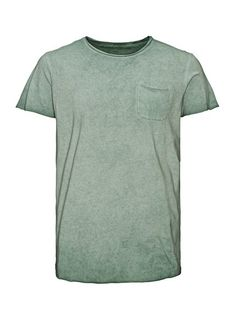 JACK & JONES T Shirt Bleich Optik Longline