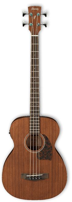 Ibanez PBCE12MHOPN Open Pore Natural Acoustic Bass Guitar