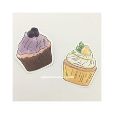Cupcake Stickers/ Handmade Stickers/ Hand-cut Stickers/ Blueberry and Lemon Cupcakes by softpinksmooches on Etsy https://www.etsy.com/listing/484587473/cupcake-stickers-handmade-stickers-hand
