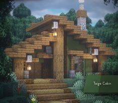 Minecraft Cabin, Minecraft House Plans, Minecraft Mansion, Minecraft Houses Survival, Easy Minecraft Houses, Minecraft House Tutorials, Minecraft Room, Minecraft House Designs, Minecraft Decorations