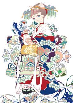 """Lucky Cat"" original illustration by Borbone Manga Anime, Anime Kimono, Manga Girl, Anime Art Girl, Manga Illustration, Character Illustration, Moda Kimono, Character Art, Character Design"
