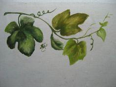 PARANOEMI: Pintura em tecido - Como pintar folhas de uva