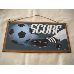 Score Soccer Ball Wooden Wall Art