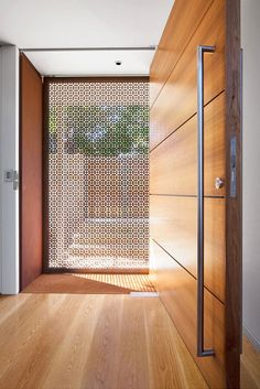 Contemporary Entry | Modern Foyer | Front Door Style | Decorative Screen | Home Design
