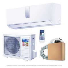 Ramsond Super Efficiency GWi Series BTU 1 Ton Inverter Ductless Mini Split Air Conditioner and Heat Pump - - The Home Depot Garage Workshop Organization, Shipping Container Homes, Shipping Containers, Electronic Recycling, Heat Pump, Heating And Cooling, Save Energy, Cool Stuff, House Ideas