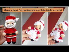 Amigurumi Pattern Mom And Santa Claus Christmas Amigurumi Crochet Fabric Crochet Ornaments, Christmas Crochet Patterns, Christmas Crafts, Christmas Decorations, Xmas, Patron Crochet, Crochet Fabric, Crochet Diagram, Christmas Stockings