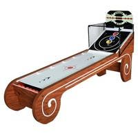Shop Challenger 9-Ft Shuffleboard Table - Dark Cherry Finish - Overstock - 6217673 Skee Ball, Shuffleboard Table, Led Track Lighting, Outdoor Movie Nights, Arcade Machine, Slot Machine, Steel Rod, Table Games, Board Games