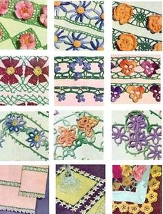 Free Crochet edgings and border patterns