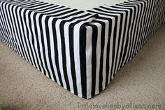 Easy DIY bedskirt