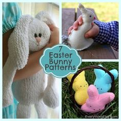 7 Easter Bunny Patterns {DIY Gifts}...so sweet! Love the peeps...may need to make some.