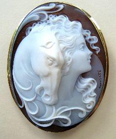 @Cameo #horse #sardonyx #carved #cameo #shell