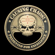 CAUSING CHAOS PRESENTED FOR EXCELLENCE Custom Metal round Bottle Opener