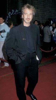 "July 12, 1988 - Alan Rickman at the California premiere of ""Die Hard"" in Westwood, CA."
