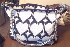 Tapestry crochet tote. Made for a friend.
