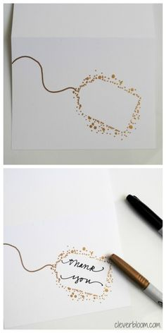 Make your own Thank You Cards.  These are so simple yet so elegant!  Visit cleverbloom.com for details.