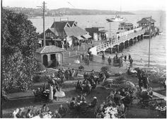 The Ferry Wharf,Watsons Bay in Sydney in Photographer:Sam Hood. State Library of NSW. Sydney Area, Sydney City, European Map, Victorian Photos, Historical Images, History Facts, Back In The Day, Continents, East Coast