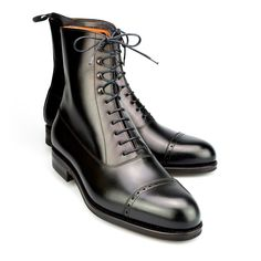 The answer of course, is when it's a BALMORAL BOOT. The top has the witty perforated decoration of a brogue shoe but the bottom has the tough, stout construction of a walking boot. Church's Balmoral Dress Boots.   eBay!