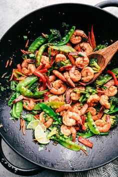 15 minute Garlic Shrimp Stir Fry | The Recipe Critic