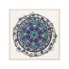 Morning Mist Garden Mandala Art Canvas