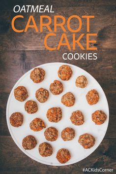 AC Kid's Corner Healthy Cookie Recipe Oatmeal Carrot Cake Cookies Autumn Calabrese 21 Day Fix Healthy Kids Recipes Healthy Cookie Recipes, Healthy Sweet Treats, Healthy Meals For Kids, Healthy Cookies, Healthy Snacks, Dessert Recipes, Stay Healthy, Eating Healthy, 21 Day Fix Desserts