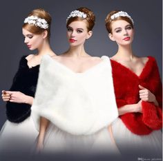 long fox faux fur bridal Wraps Mixed Orders Autumn winter 2018 Black Ivory Red Burgundy evening shawl cloak scarf female Party Cocktail