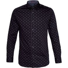 9a8c8fb9ace077 Ted Baker Monico Diamond Print Cotton Shirt ( 60) ❤ liked on Polyvore  featuring men s