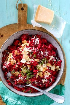 Power risotto with beetroot - Vegetarische Rezepte - Diet Recipes, Vegetarian Recipes, Healthy Recipes, Beetroot Recipes, No Sugar Diet, Clean Eating Diet, Easy Diets, Le Diner, Diet Drinks