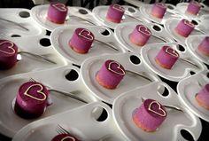 Cute purple wedding cakes