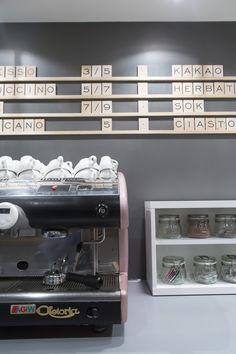 Menu // Jubilat . miejsce + spotkań (Poznań, 2015/2016). Projekt: Grzegorz Dąbkowicz OP. Foto: Krzysztof Nowak. Espresso Machine, Coffee Maker, Kitchen Appliances, Home, Espresso Maker, Diy Kitchen Appliances, Home Appliances, Drip Coffee Maker, Appliances