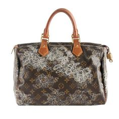 Louis Vuitton Limited Edition Dentelle Speedy 30 Satchel