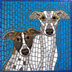 Dogs. Moonbug Mosaics by Tobi Ellis