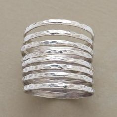 Free Jewelry Making Tutorial and Video: How to Make Stacking Rings. Featured by Beth Hemmila of Hint Jewelry