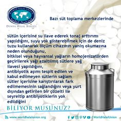 Biliyor musunuz?   #WorldHalalUnion #DünyaHelalBirliği #Helal #Halal #Hallal #حلالا #Belgelendirme #Certification #Bescheinigen #شهادة #certificación #certificazione #Smiic #Standard #Metrology #Sertifika #Certificate #Gıda #Food #Hile #Tağşiş #Milk #Süt #DoYouKnow Certificate, Did You Know, Milk, Food, Essen, Meals, Yemek, Eten