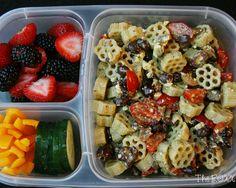 15. Black Bean Pasta Salad Bento #healthy #bentobox #lunch http://greatist.com/health/healthy-bento-box-ideas