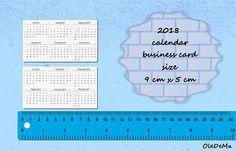 2018-2017 Calendars Printable Mini 9 x 5 cm business