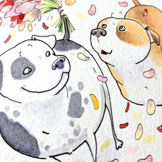 Just art & dog butts from here. Pug Illustration, Illustrations, Dog Paintings, Pet Shop, Dachshund, Pugs, Beast, Cute Animals, Doodles