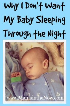 Why I Dont Want My Baby Sleeping Through the Night! As a co-sleeping family our bed resembles more of a clown car than anything else. I do NOT like it when my baby sleeps through the night - at all - find out why!
