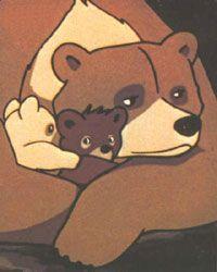 bouba le petit ourson Dans les montagnes de Tallac, une ourse Amandine a donné naissance à deux adorables oursons : Bouba et sa soeur Frisquette.