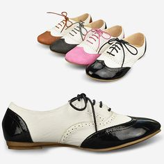 $17.71 Womens Shoes Classics Lace Up Dress Oxfords Low Flats Heels Multi Colored B47Z