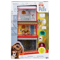 Take a look at what your pets do when you're not home with The Secret Life of Pets. The Mini Pets Apartment set is the fun way to build your own…