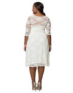 Kiyonna Womens Plus Size Aurora Lace Wedding Dress