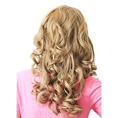 High Quality Lace Front Synthetic Blonde European Curly Long Hair Wig