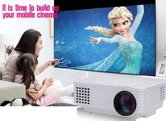 FREE Shipping TODAY - LX-805 LED Projector 3D full hd Mini proyector hd miNI 2000 lumens  multimedia projetor, good gift to home theacher !